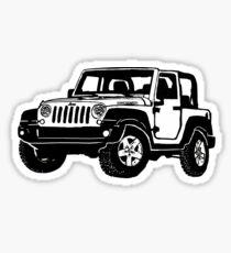 Black Jeep drawing Sticker