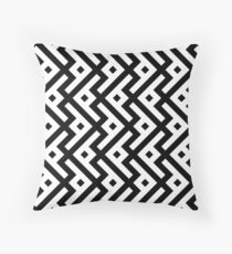 Abstract geometric monochrome pattern Throw Pillow