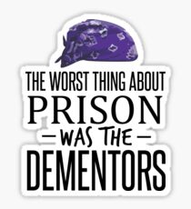 The Worst Thing About Prison was the Dementors Sticker