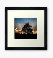 Sundown in La paz Framed Print