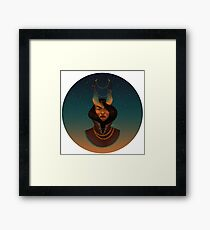 Chains (Circle) Framed Print