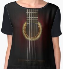 Full Guitar  Women's Chiffon Top