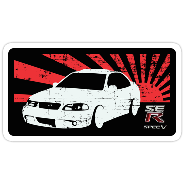 """Nissan Sentra B15"" Stickers by Jimmy Rivera 