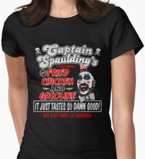 Captain Spaulding Fried Chicken & Gasoline Womens Fitted T-Shirt