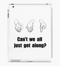 Get Along Rock Paper Scissors iPad Case/Skin