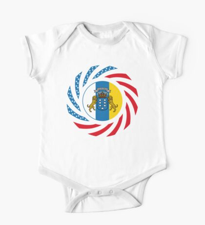 Canarian American Multinational Patriot Flag Series Kids Clothes