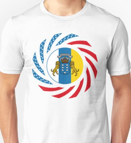 Canarian American Multinational Patriot Flag Series T-Shirt