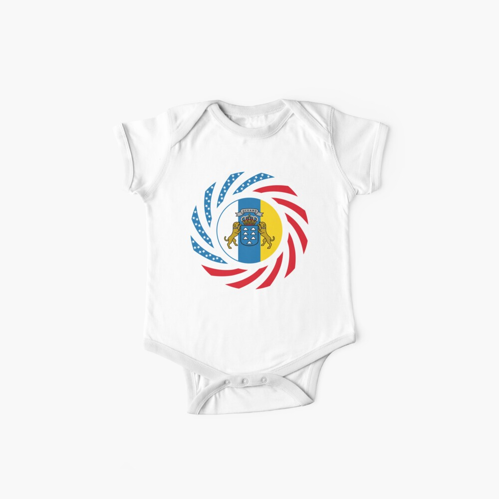 Canarian American Multinational Patriot Flag Series Baby One-Piece