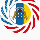 Canarian American Multinational Patriot Flag Series by Carbon-Fibre Media