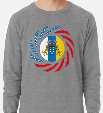 Canarian American Multinational Patriot Flag Series Lightweight Sweatshirt