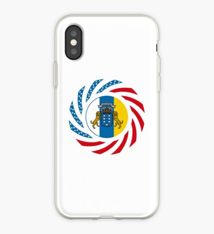 Canarian American Multinational Patriot Flag Series iPhone Case