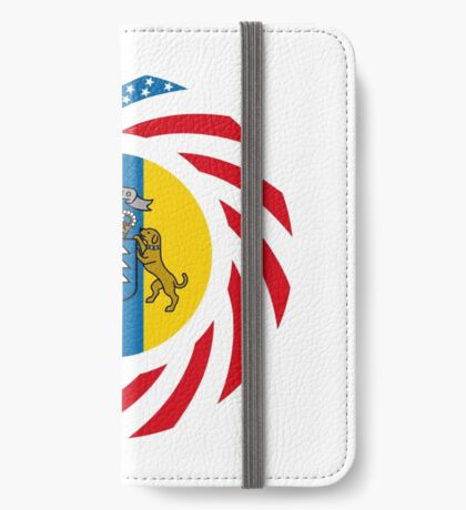 Canarian American Multinational Patriot Flag Series iPhone Wallet