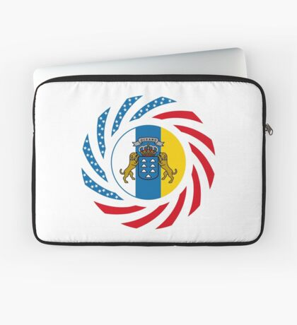 Canarian American Multinational Patriot Flag Series Laptop Sleeve