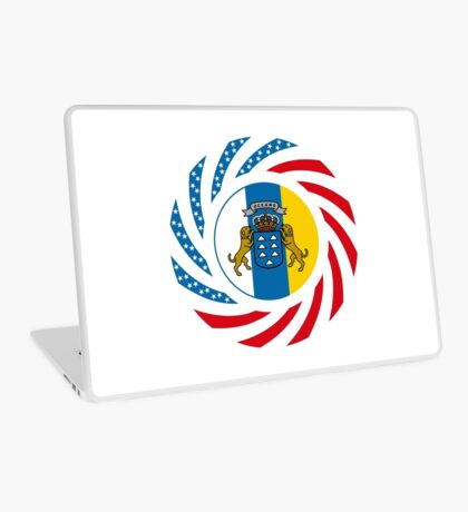 Canarian American Multinational Patriot Flag Series Laptop Skin
