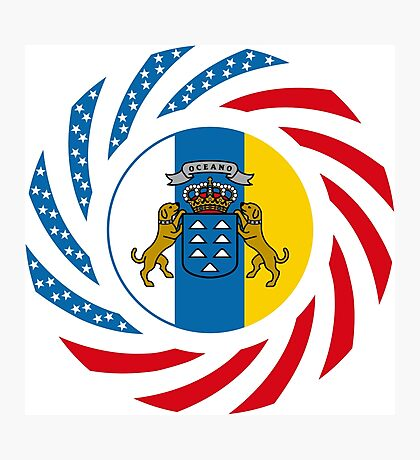 Canarian American Multinational Patriot Flag Series Photographic Print