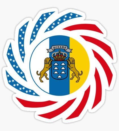 Canarian American Multinational Patriot Flag Series Sticker