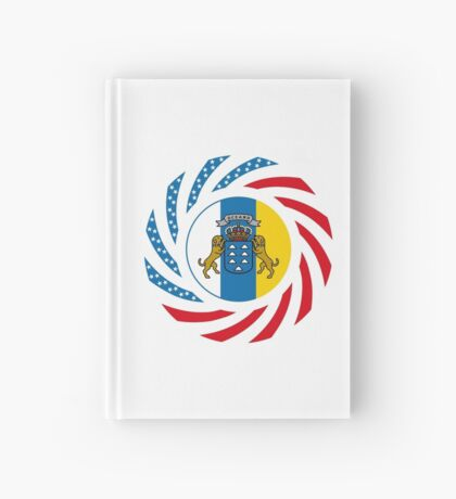 Canarian American Multinational Patriot Flag Series Hardcover Journal