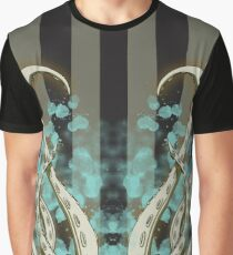 Octopus Tentacle Spatter Graphic T-Shirt