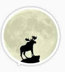 Midnight Moose Sticker
