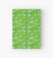 Psych Pineapple Hawaiian Print Hardcover Journal