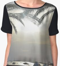 Sunset Amongst Palm Trees Women's Chiffon Top
