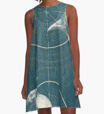 Gewohnheiten A-Linien Kleid