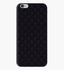Purple and Black Damask iPhone Case