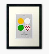 The Jerseys : Tour de France 2014 Framed Print