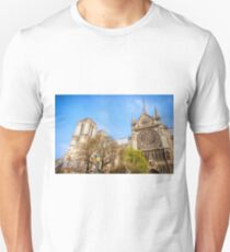 Notre Dame South Facade and Rose Window Unisex T-Shirt