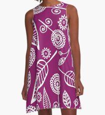 organics pattern A-Line Dress
