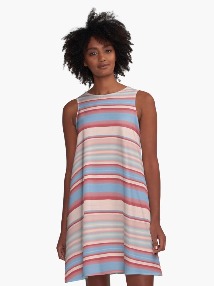 Stripes 310515 (12) A-Line Dress Front