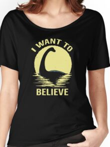 Believe In Nessie Women's Relaxed Fit T-Shirt