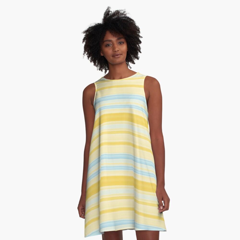 Stripes 310515 (4) A-Line Dress Front