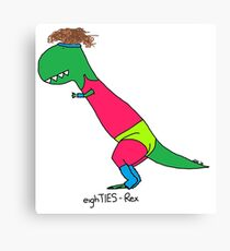80s Rex - Let's Get Physical Canvas Print
