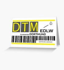 Destination Dortmund Airport Greeting Card