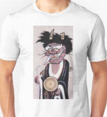 Unknown - A Demon S Prayer To Buddha. Man portrait:  Demon, spiritual, ceremony,  evil, samurai, masculine, mysticism, mystic, guardian, statue, temple Unisex T-Shirt
