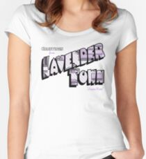 Greetings from Lavender Town Women's Fitted Scoop T-Shirt