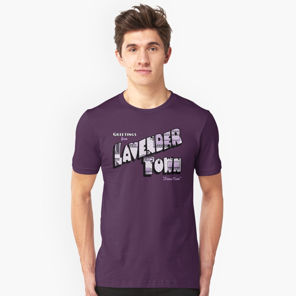 Greetings from Lavender Town Unisex T-Shirt Front