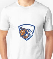 Pelican Basketball In Mouth Crest Retro Unisex T-Shirt