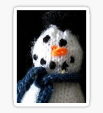Knitted snowman Sticker