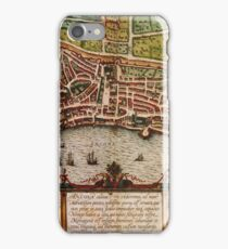 Ancona Vintage map.Geography Italy ,city view,building,political,Lithography,historical fashion,geo design,Cartography,Country,Science,history,urban iPhone Case/Skin