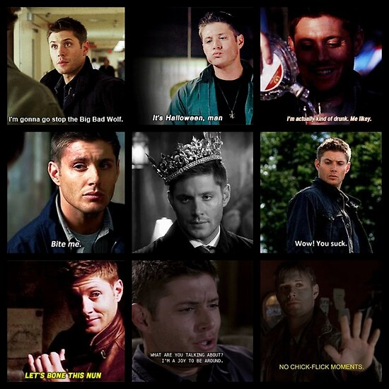 Dean Winchester Quotes | Dean Winchester Quotes Collage 1 Posters By Kangaroozach41 Redbubble