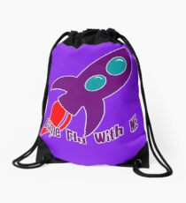 Come Fly With Me Drawstring Bag