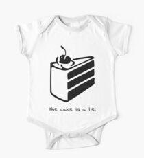 Body de manga corta para bebé El pastel es una mentira