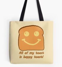 Happy Toast Tote Bag