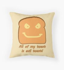 Evil Toast! Throw Pillow