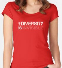 My Diversity is Invisible Women's Fitted Scoop T-Shirt