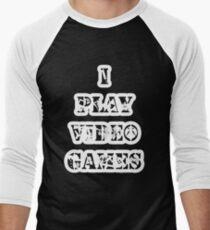 I play video games - in white Men's Baseball ¾ T-Shirt