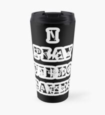 I play video games - in white Travel Mug