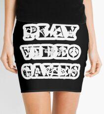 I play video games - in white Mini Skirt
